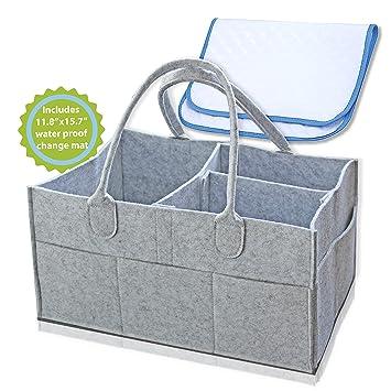 Amazon.com: Pañal Caddy – Nursery de almacenamiento de bin y ...
