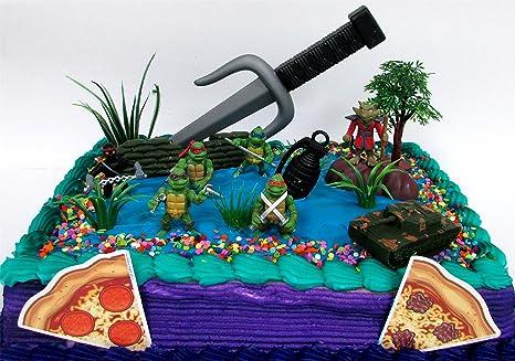 Amazoncom Teenage Mutant Ninja Turtles 17 Piece Birthday Cake