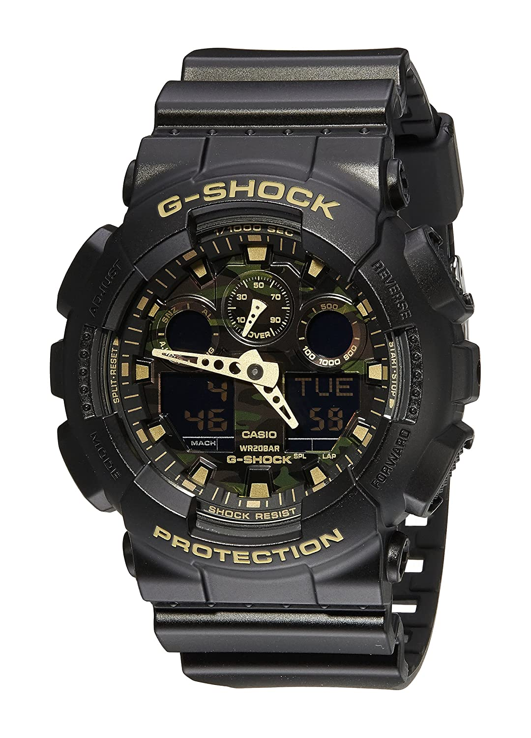 Amazon Casio Mens Ga 100cf 1a9cr G Shock Camouflage Watch With