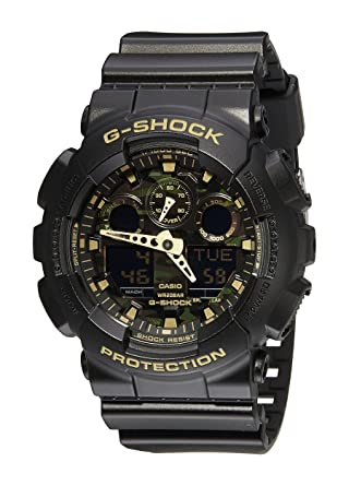 250e7ec0f0a5 Casio Men s GA-100CF-1A9CR G-Shock Camouflage Watch With Black Resin Band