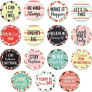 Sweetzer & Orange 30 Growth Mindset Confetti Positive Sayings Accents | Motivational Wall Art Inspirational Quote Cards with Matching Pastel Colors for Classroom Decorations, Office, Nursery (7-Inch)
