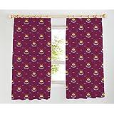 West Ham United Tape Top Curtains, Claret, 66 x 54-Inch