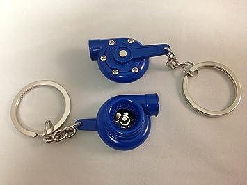 Amazon.com: Spinning Turbocompresor de Turbo Llavero azul ...