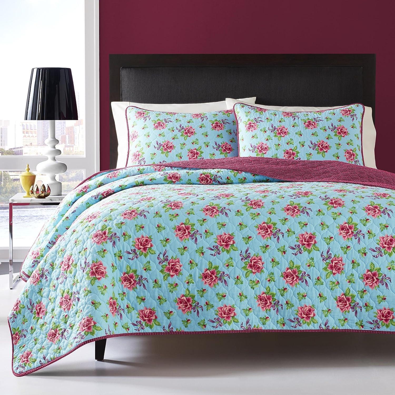 amazoncom betsey johnson quilt set twin multi leopard home u0026 kitchen - Twin Quilts