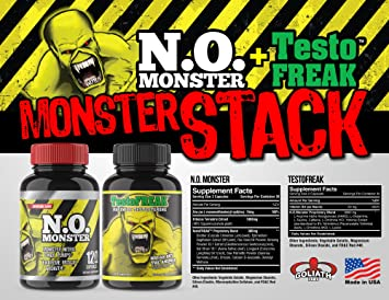 ⧫ #1 RATED NITRIC OXIDE PRODUCT  Colossal Labs NO Monster Stack, powerful  pumps