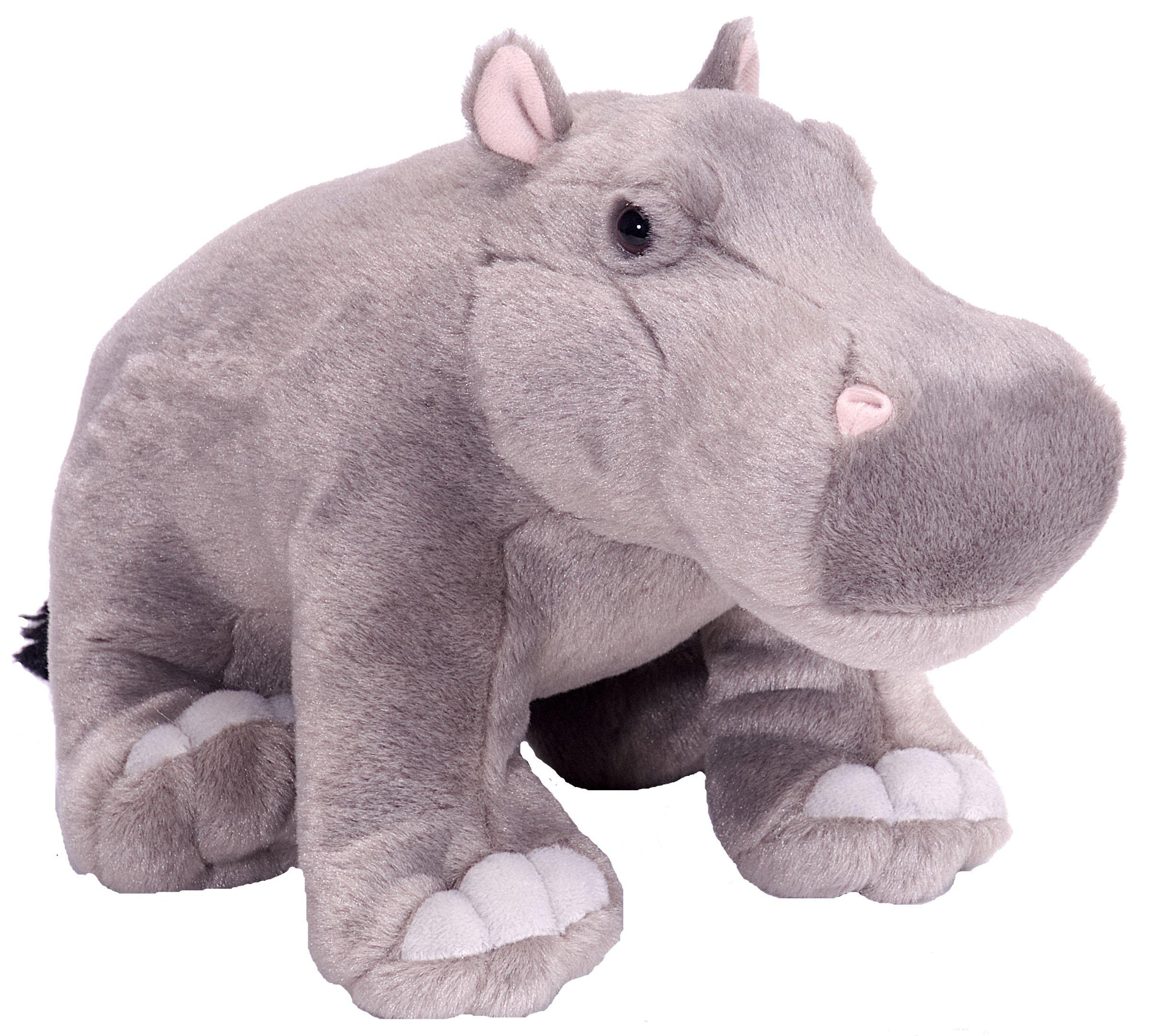Wild Republic Hippo Plush, Stuffed Animal, Plush Toy, Gifts for Kids, Cuddlekins 12 Inches