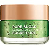 L'Oreal Paris Pure-sugar Tightens & Unclogs Pores, Face & Lip Scrub for Oily Skin, Kiwi Seeds, 50ml