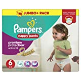 Pampers Premium Active Fit Nappy Pants, Size 6