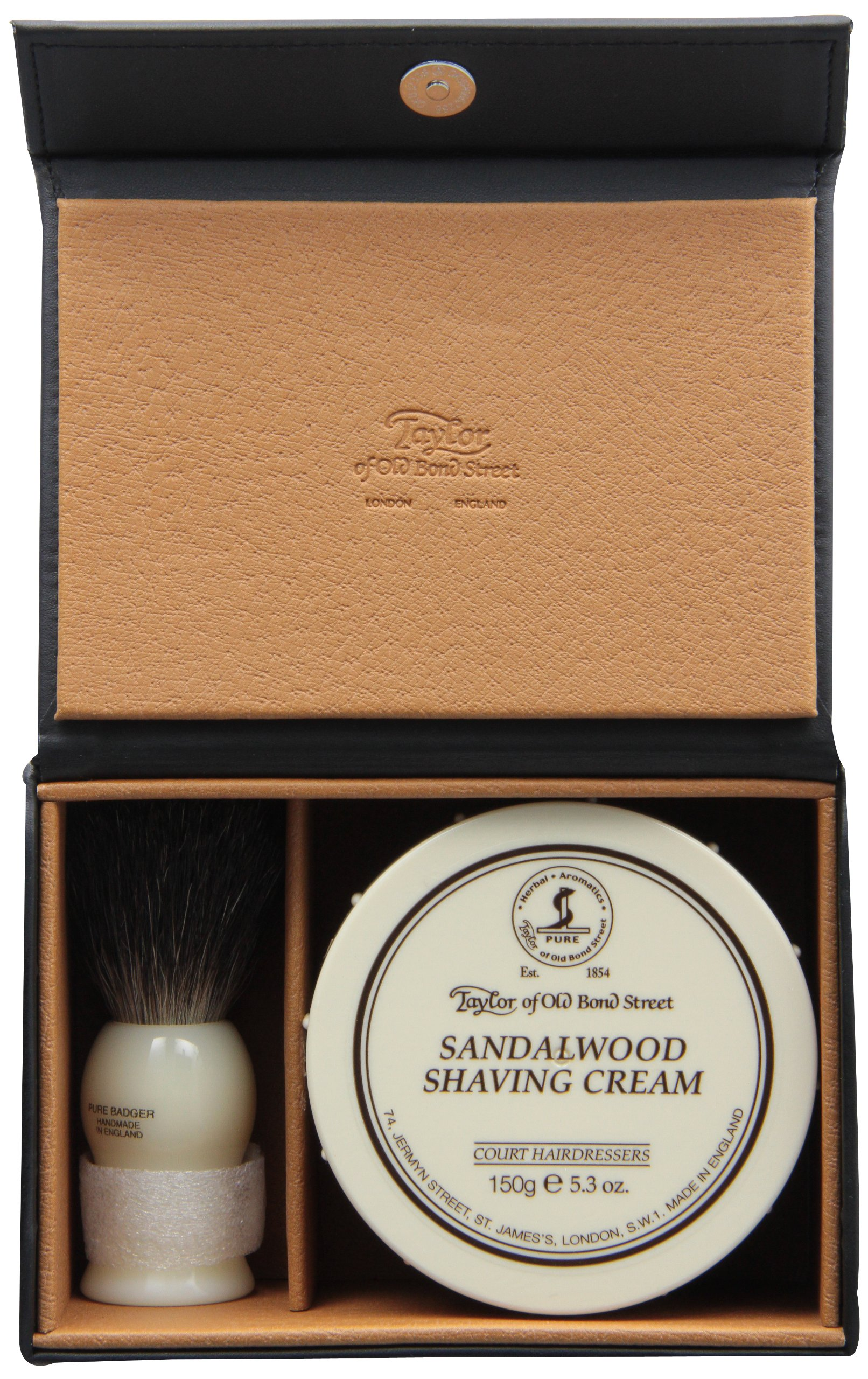 Taylor of Old Bond Street Luxury Shaving Gift Set Box - Sandalwood Shaving Cream & Pure Badger Shaving Brush *NEW* by Taylor of Old Bond Street (Image #1)