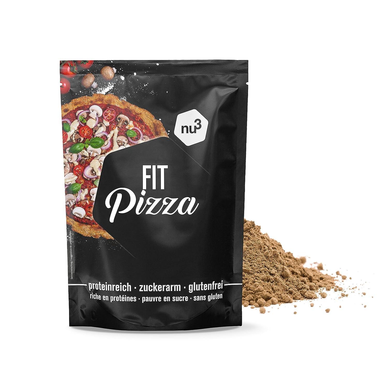 nu3 Fit Pizza baja en carbohidratos | 270g de harina para pizza proteica sin levadura | 100% pizza vegana y libre de gluten | 15g de proteína por ...
