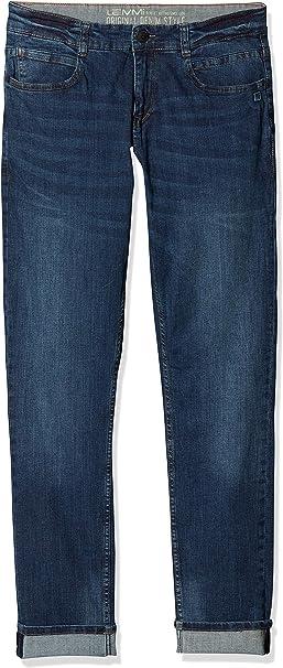 Blau Herstellergr/ö/ße: 146 , Dark Blue Denim|Blue 0012 Lemmi Jungen Hose Boys Tight fit SUPERBIG Jeans
