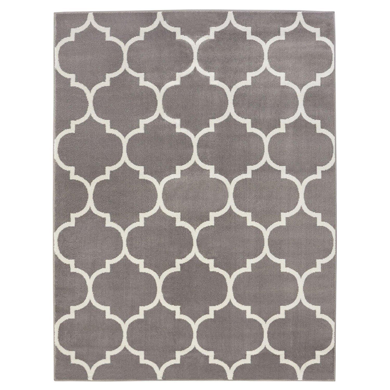 Ottomanson Royal Collection Contemporary Moroccan Trellis Design Area Rug, 5'3 X 7'0, Cream RYL1329-5X7