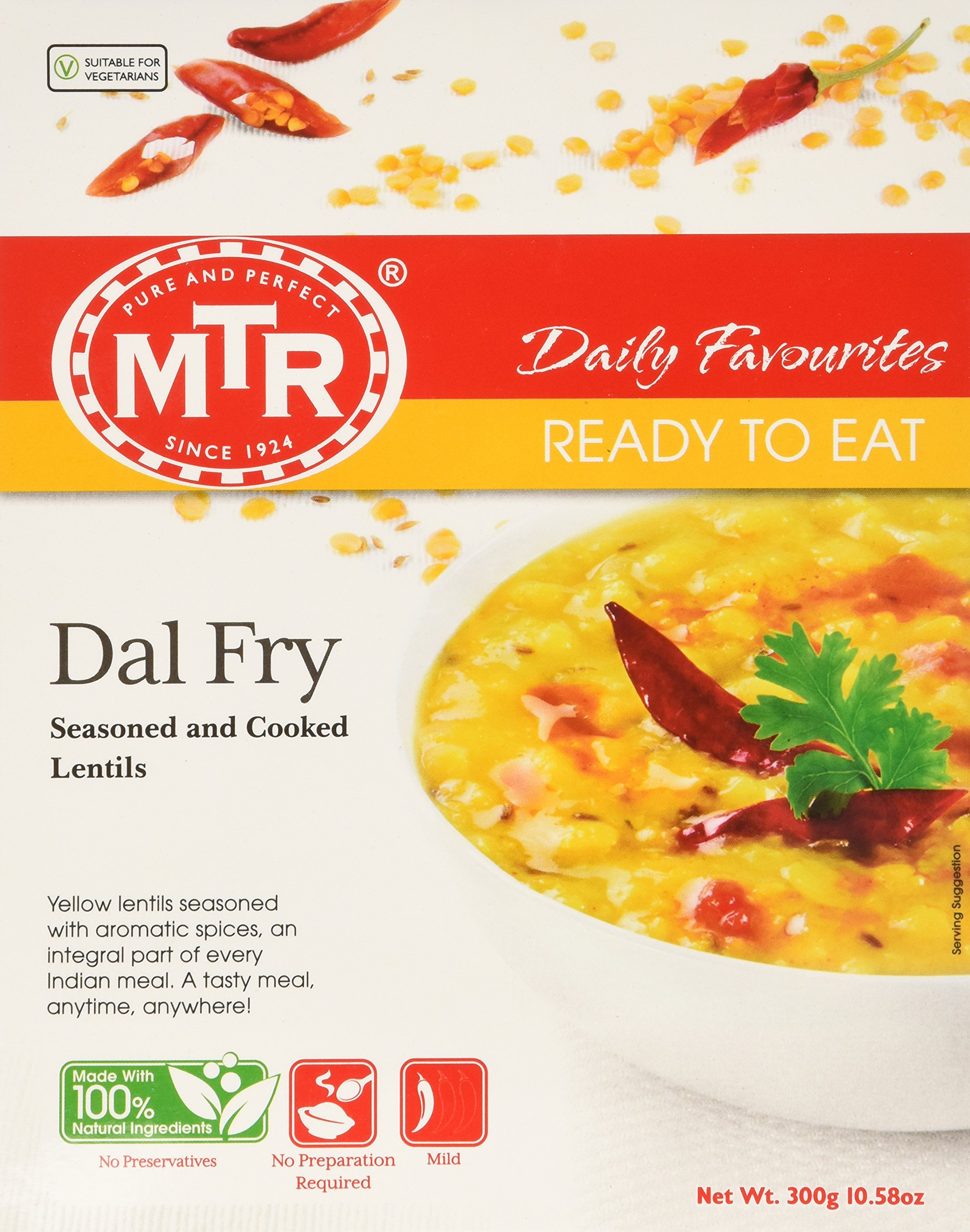 MTR Dal Fry, 10.58- Oz Boxes (Pack of 10) by MTR