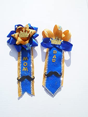 Amazon Royal Prince Baby Shower Themed Corsage For Mom And Dad