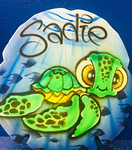 Amazon Com Airbrush Sand Dollar Loggerhead Sea Turtle Personalized With Name Handmade