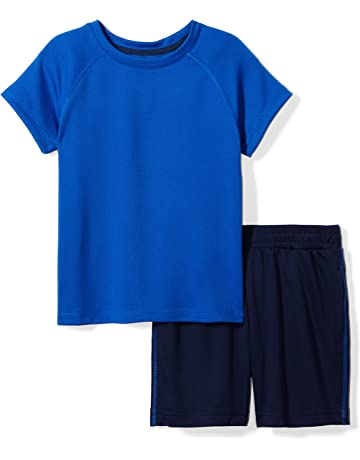 a1086003cf9 Spotted Zebra Boys  Active Short-Sleeve T-Shirt and Shorts Set