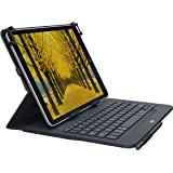 Logitech UNIVERSAL FOLIO Case with integrated Bluetooth keyboard for select 9-10 inch Apple, Android, Windows tablets