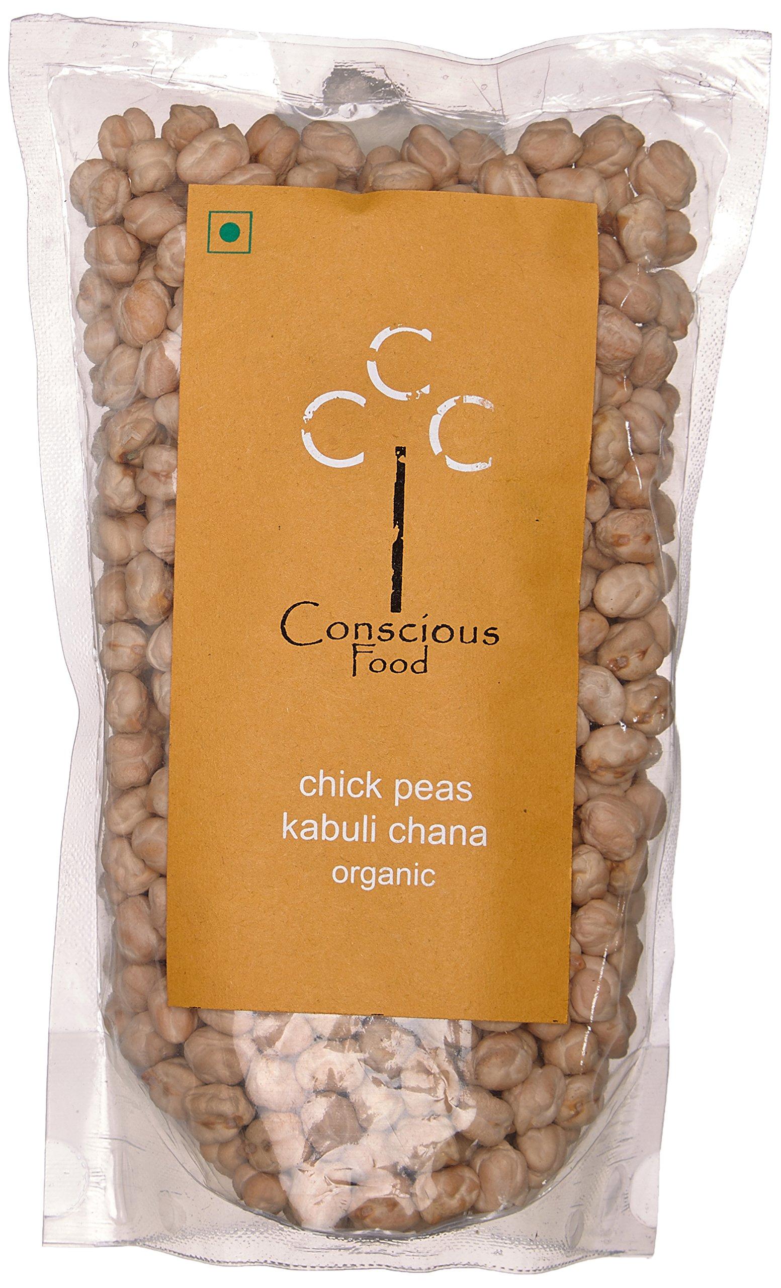 Conscious Food Organic Chick Peas (Kabuli Chana), 500g