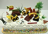 Construction Themed Boys 17 Piece Birthday Cake