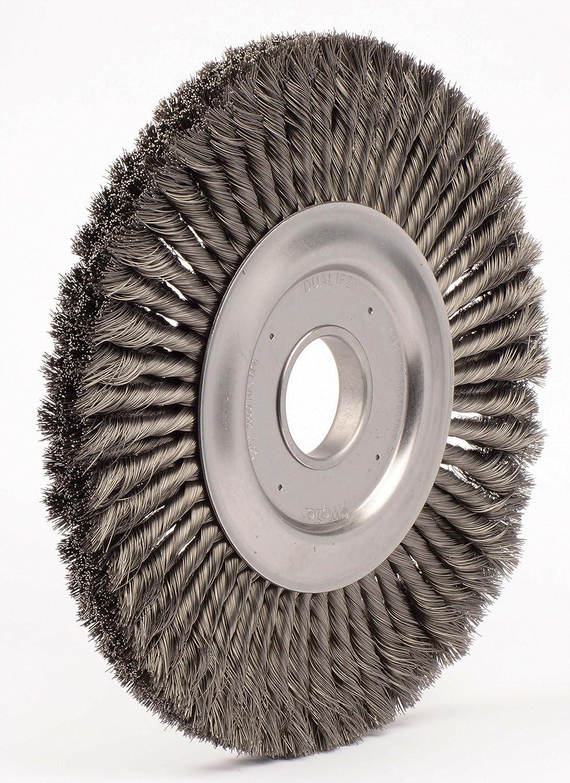 0.16 Steel Fill 2 Arbor Hole Weiler 09530 12 Standard Twist Knot Wire Wheel