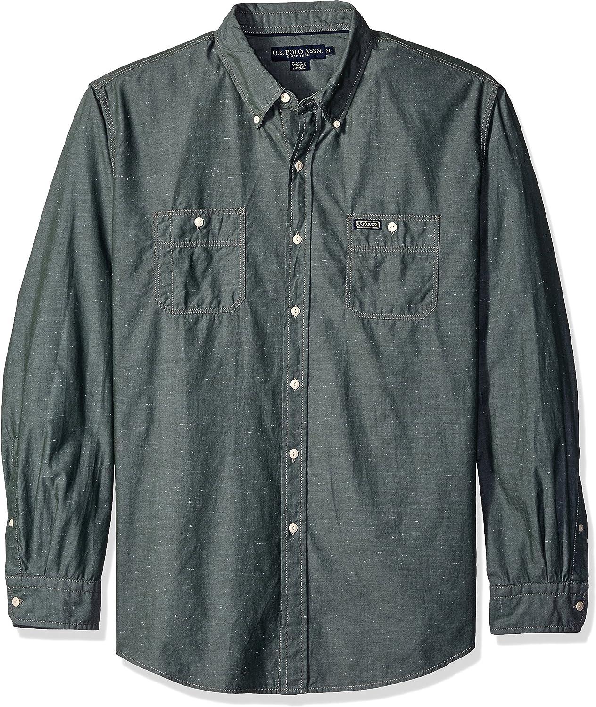JuJuTa Men Slim Fit Casual Long Sleeve Button Up Dress Shirts