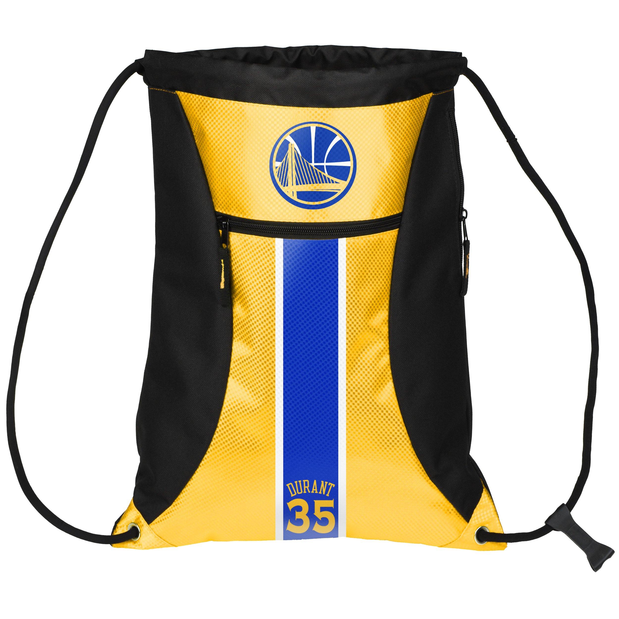 FOCO Golden State Warriors Durant K. #35 Big Stripe Zipper Drawstring Backpack by FOCO