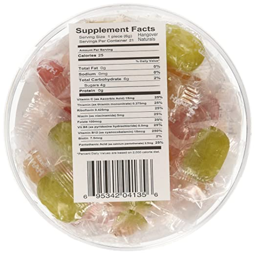 Amazon.com : Three Lollies Drops, Hangover, 3 Count : Grocery & Gourmet Food