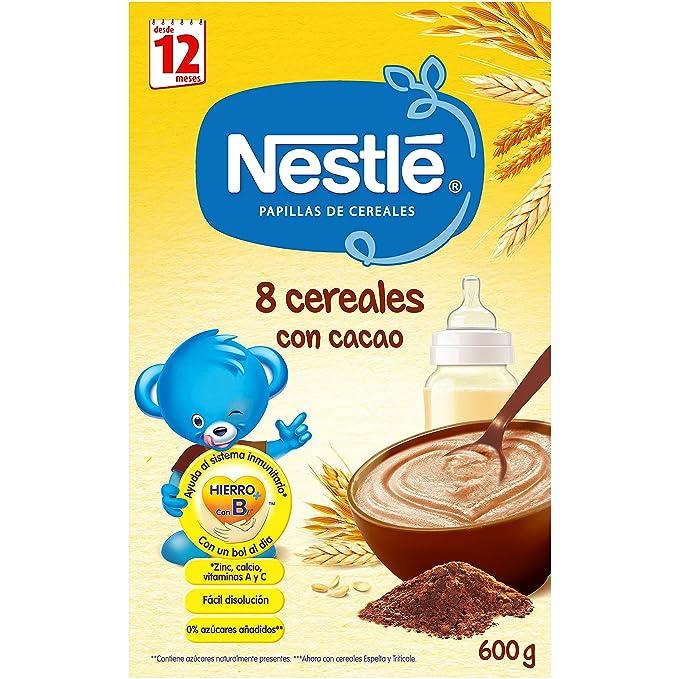 NESTLÉ Papilla 8 Cereales con Cacao - Alimento para Bebés: Amazon.es: Amazon Pantry