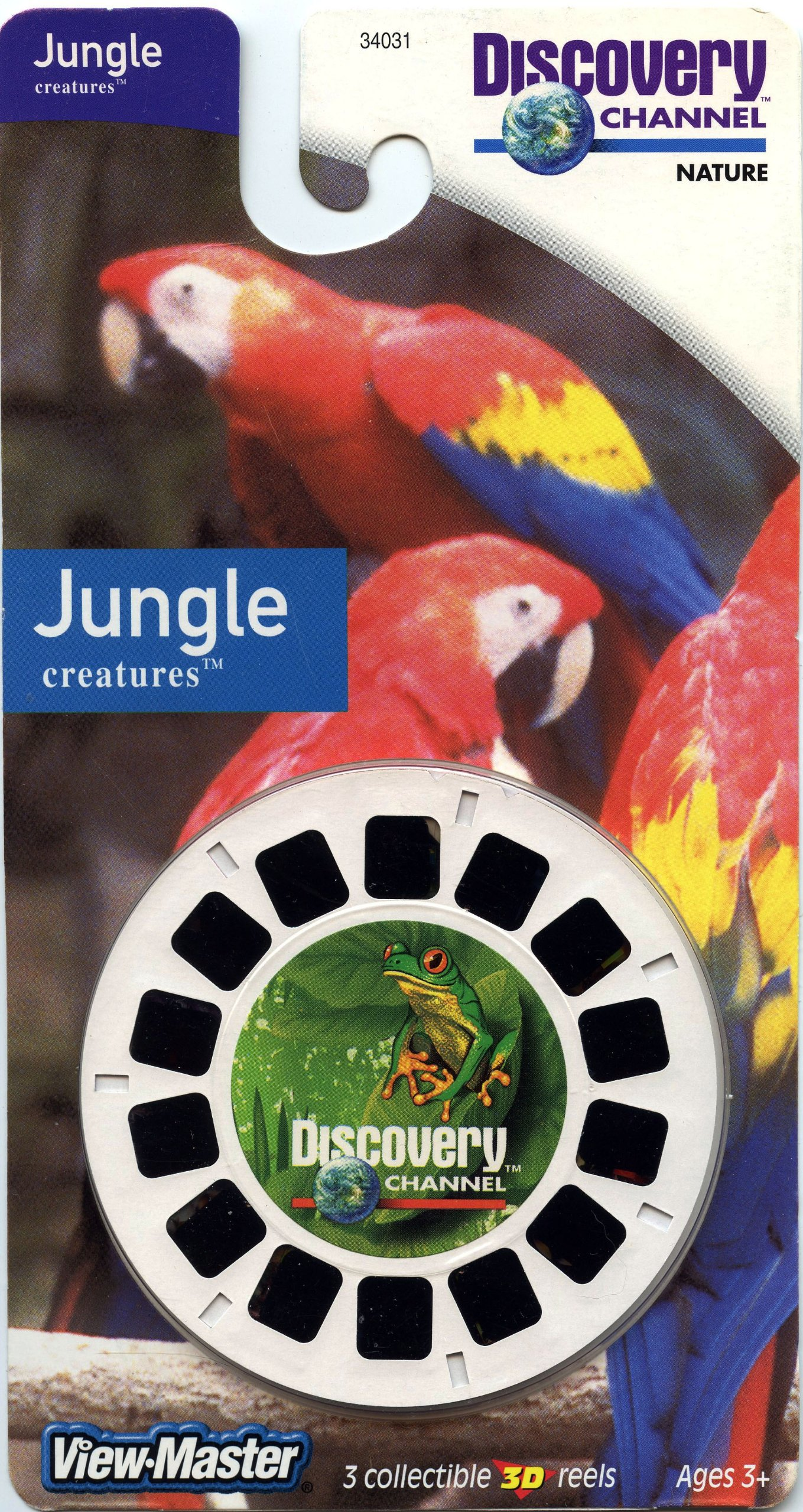 ViewMaster Discovery Channel - Jungle Creatures - Parrots and Reptiles - 3 Reels on Card - NEW