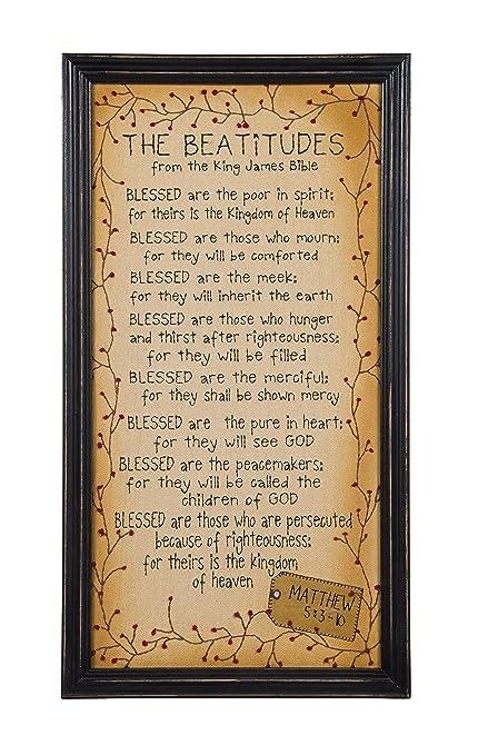 Amazon.com: Ohio Wholesale King James Bible Framed Beatitudes ...