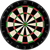 Bristle Dart Board, Tournament Sized Indoor Hanging Number Target Game for Steel Tip Darts- Dartboard with Mounting…