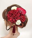✨人気再入荷✨【F1705HE77】赤♡ヘッドドレス/髪飾り♡・結婚式・パーディー・和婚・成人式・卒業式〔ゆうパックで発送〕