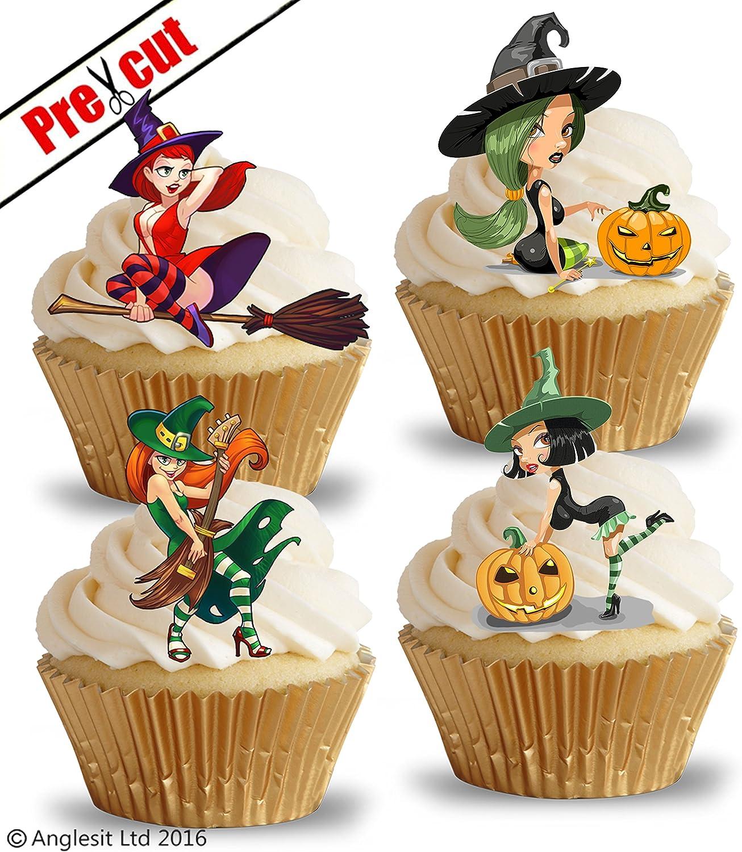 24/St/ück vorgeschnittenen Funny 50 Geburtstag Essbare Cupcake Topper//Kuchen Dekorationen