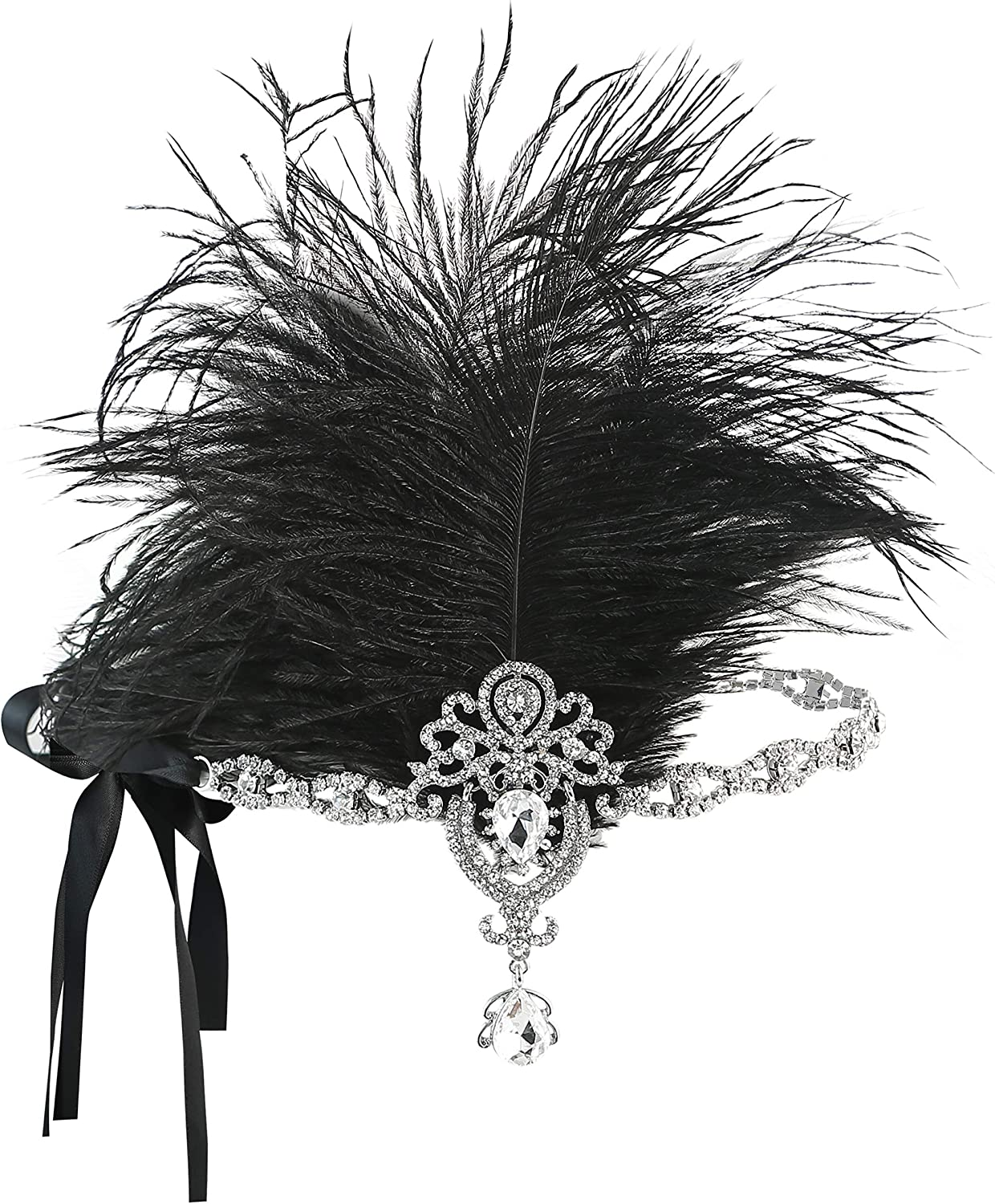 Create Easy Vintage Hairstyles Metme Roaring 20s Flapper Headband Crystal Great Gatsby Headpiece Feather Vintage 1920s Costume Hair Accessories $14.99 AT vintagedancer.com
