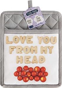 Talisman Designs 100% Cotton Food Puns Pocket Mitt Pot Holder and Hot Pad, 10 x 8 inches, Tomatoes