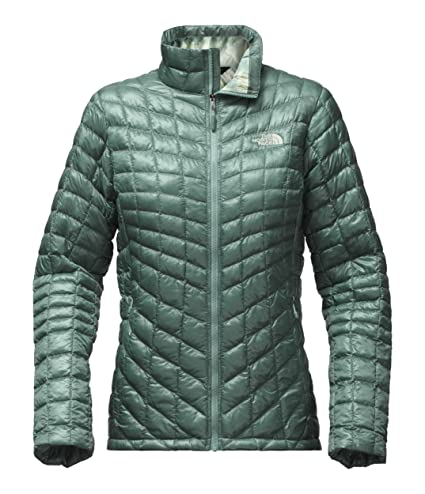 b3416dede The North Face Women's Thermoball Full Zip Jacket(TRELLIS GREEN/TRELLIS  GREEN BOREALIS PRINT, X-Large)