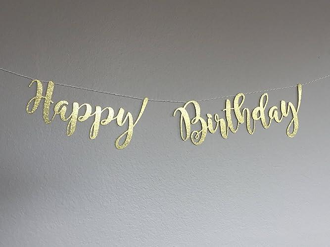 Happy Birthday Banner Garland String