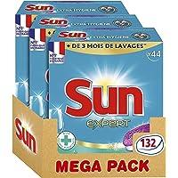 Sun Tablettes Lave-Vaisselle Tout-En-1 Expert Extra Hygiene 132 Lavages (Lot de 3x44 Lavages)