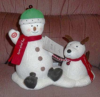 Amazoncom Hallmark 2004 Jingle Pals Techno Plush Animated Snowman