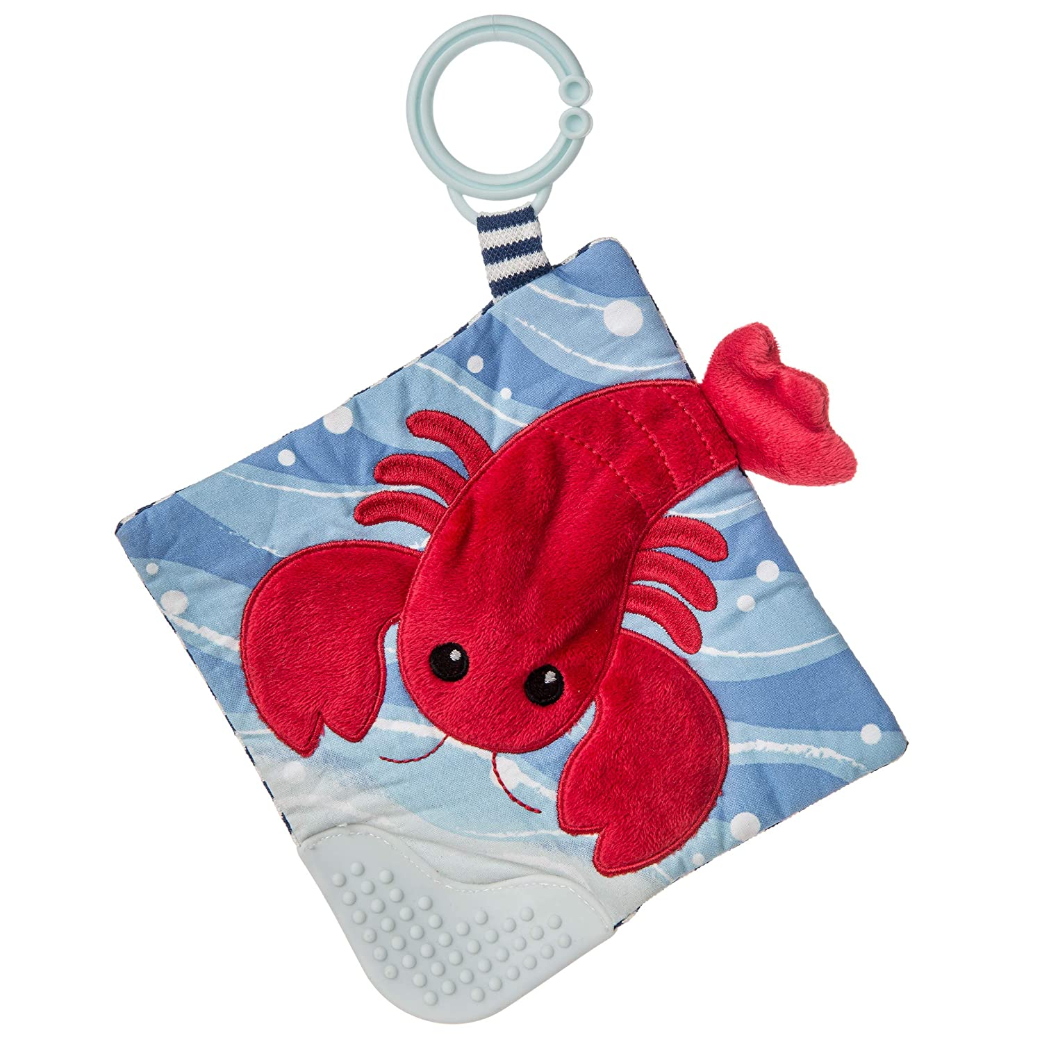 Lobbie Lobster 6 x 6 6 x 6 25391 Mary Meyer Crinkle Teether Toy with Baby Paper and Squeaker