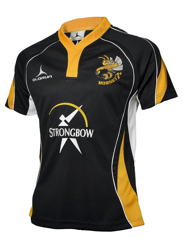 22fe9b44f Hamilton Hornets Rugby Shirt sponsored by STRONGBOW Black S-XXXXL 2014 2015