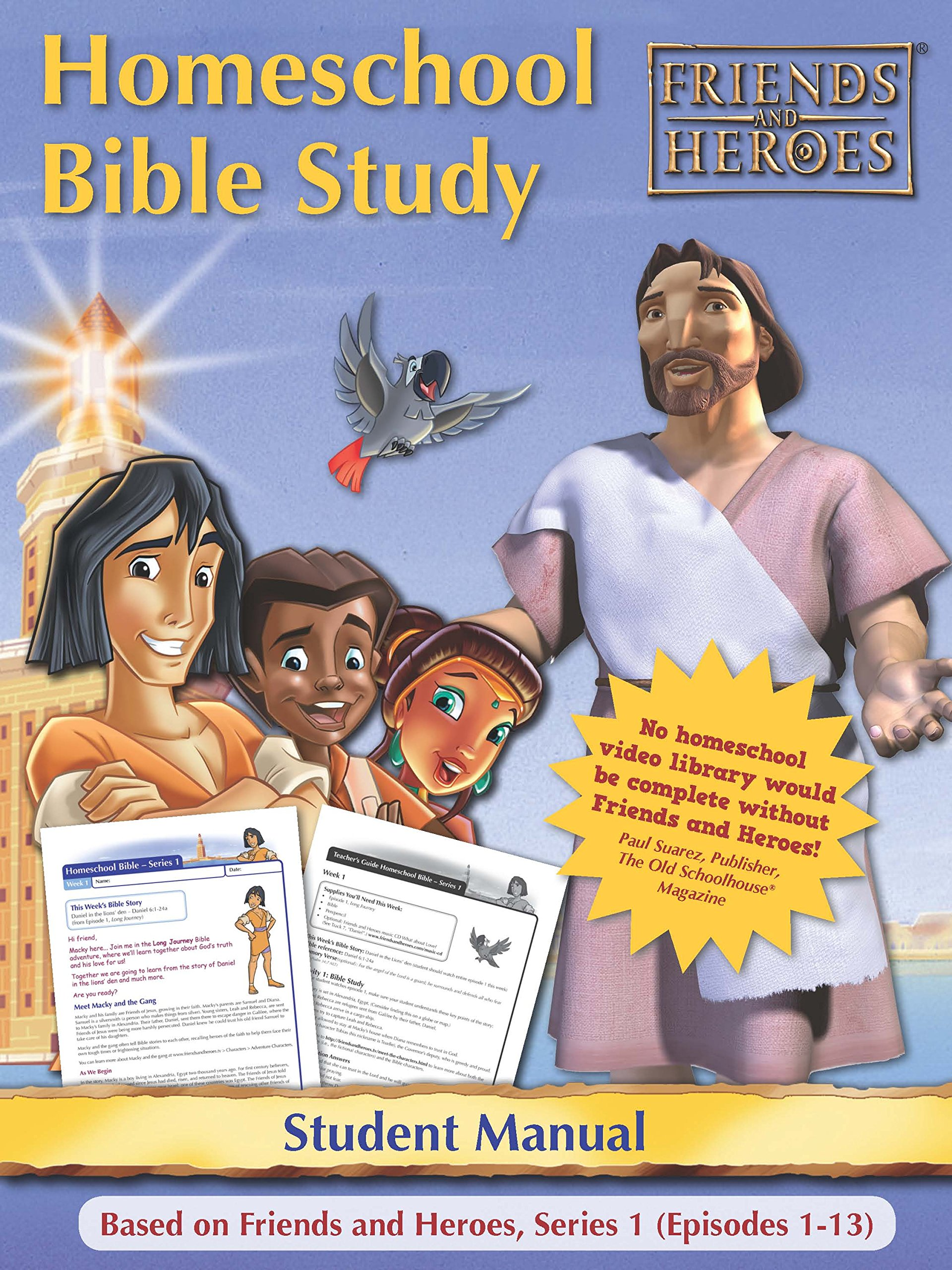 Friends and Heroes Series 1 Homeschool Bible Study Curriculum DVDs + CD-ROM by