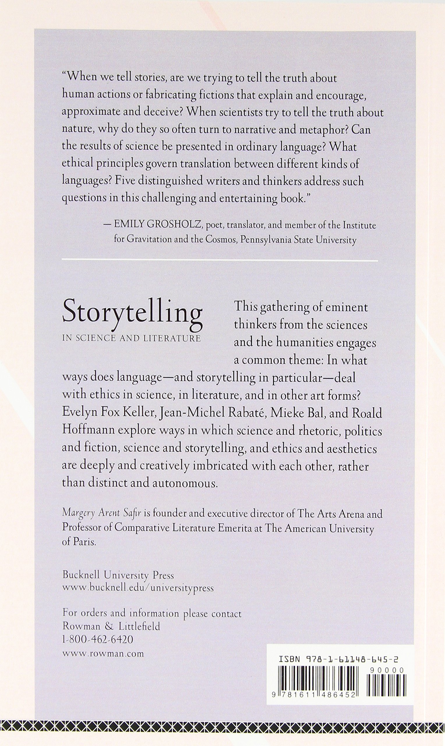 Storytelling in Science and Literature (Aperçus: Histories Texts Cultures)