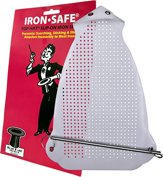 Teflon Iron Cover Sole Plate Iron Shoe Prevents-Shine to Protect Delicate Fabrics Such as Wool and Silk While Ironing for Any Standard Size Iron
