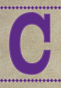 Toland Home Garden 140012 Monogram C Burlap Flag, Letter - C