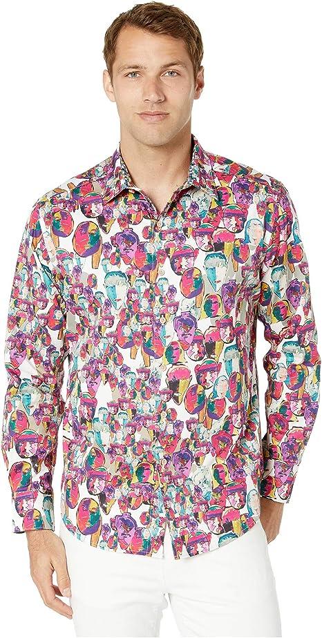 Robert Graham - Camiseta de Manga Larga para Hombre
