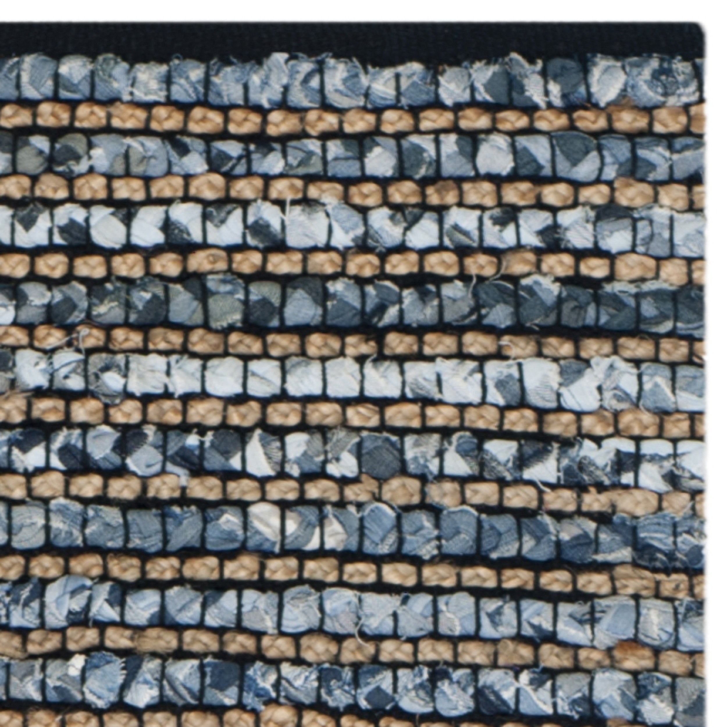 Safavieh Cape Cod Collection CAP365A Hand Woven Blue Jute Runner (2'3'' x 6') by Safavieh (Image #4)