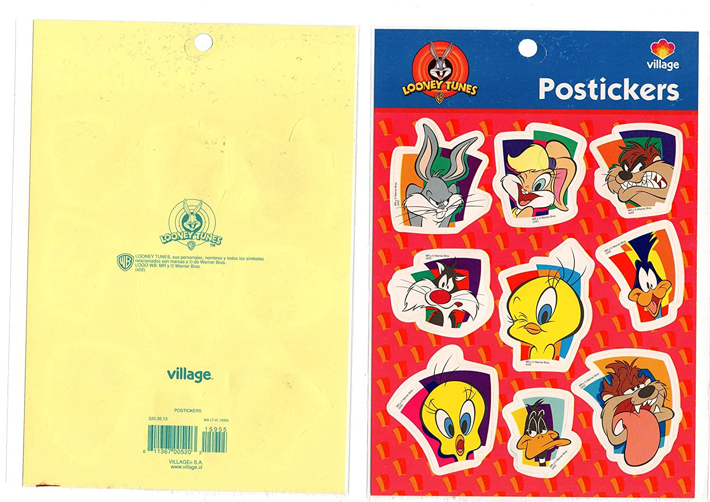 Looney Tunes Devil TAZMANIA Stickers Decal POSTICKERS Tweety PIOLIN VILLAGE