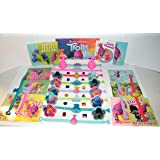 "Trolls Movie Deluxe Party Favors Goody Bag Fillers Set of 48 with Bracelets, ToyRings, Sticker Sheets and Troll ""Jewels""!"