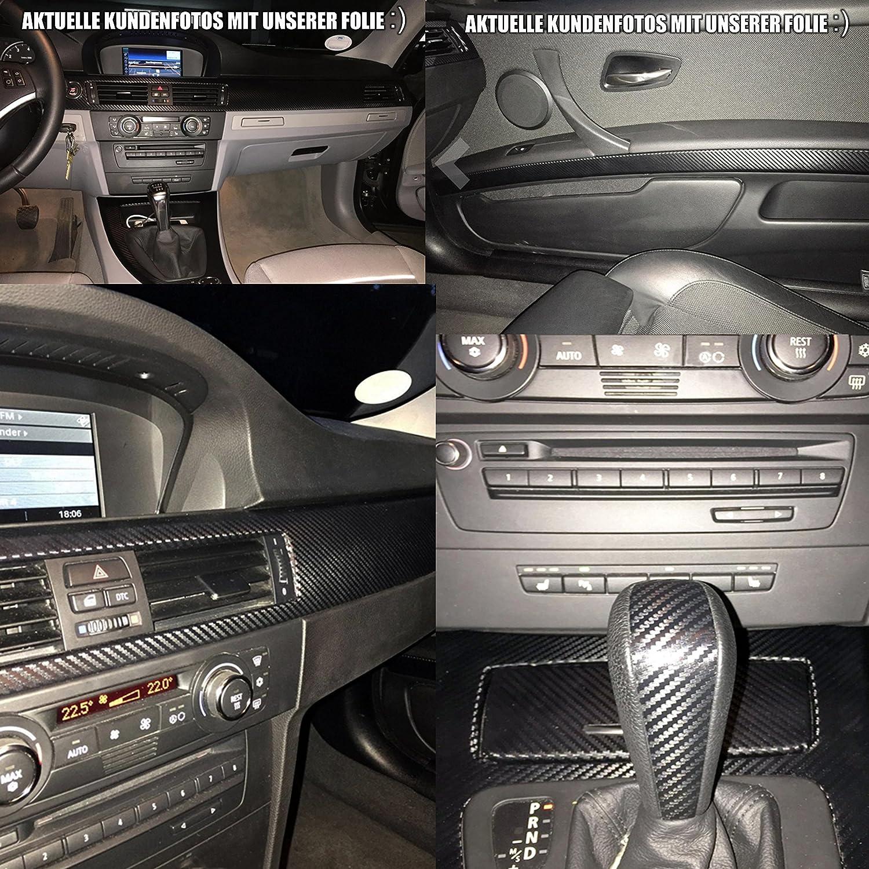 3er E90 3d Carbon Folie Zierleisten Set Mit Profi Rakel Und Skalpell Von Wizuals E90 E91 E92 E93 Für Alle E90er Modelle Auto